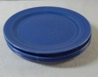 Vernon Kilns Blue Early California 7-1/2 Inch Salad Plates