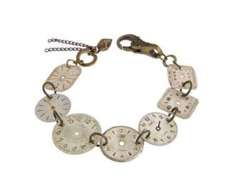 Vintage Watch Face Bracelet Plain