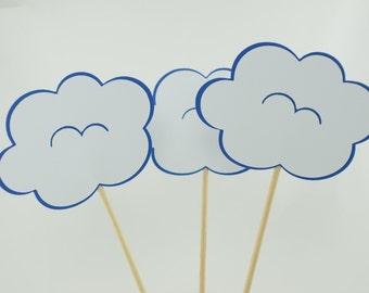 Cloud Baby shower Centerpieces, Cloud Theme, Baby shower Theme, Cloud Centerpieces, Set of 4