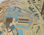 Large destash lot. Scrapbook paper, ephemera, tags, frames, cardstock, reversible. 100 pieces.