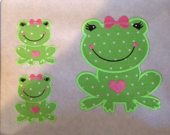 Cute frog applique