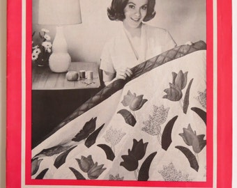 Quilt Patterns, Collection 1, Vintage Quilt Patterns Booklet, 16 Vintage Patterns, Patchwork Applique Patterns, Soft Cover Booklet