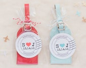By Air or By Sea Leather Luggage Tags