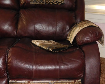 Chair Covers Sofa Protector 4pc Furniture Set Leather Recliner Protector Ebony Gold & Etsy :: Your place to buy and sell all things handmade islam-shia.org