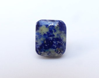 Lapis Lazuli with Pyrite Rectangular Cabochon, 17mm x 14mm, LLC003