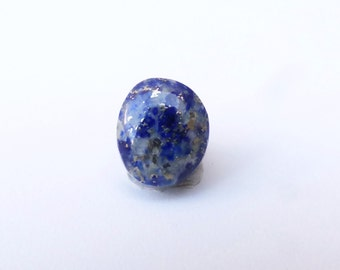 Lapis Lazuli with Pyrite Oval Cabochon, 12mm x 10mm, LLC004
