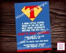 SUPERMAN BABY SHOWER, Superman Baby Shower Invitation, Supergirl Shower Invite,  Supergirl Shower, Superman Shower, Super Baby