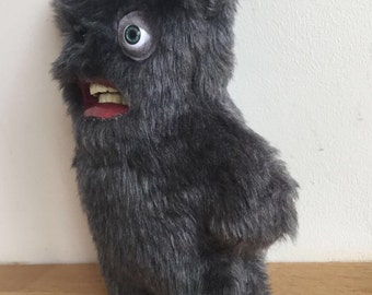 Teddy Bear with teeth - Decorative Doll - Uncanny Creature - Handmade and OOAK /Ready to ship/ Quirky Uncanny Scary Creepy Cute