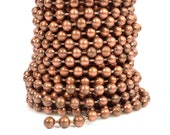 10ft 6.4mm Ball Chain - Antique Copper - CH99-AC