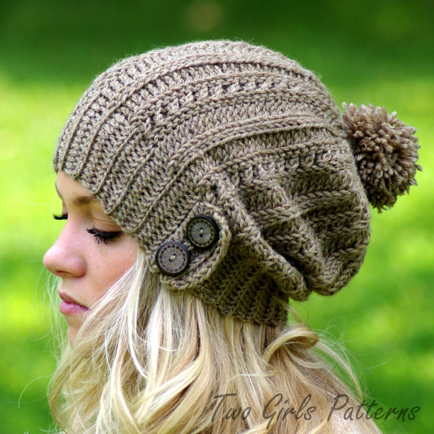 Crochet Slouchy Hat Pattern For Child : Crochet Pattern Cameron Crochet Hat Knit Look Crochet