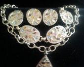 NOW ON SALE Retro Rhinestone Sarah Coventry Necklace Bracelet Earring Set ** Vintage Demi Parure ** Designer Signed Vintage Jewelry