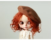 Miss yo 2016 Summer & Autumn - Beret Hat for Blythe doll - dress / outfit - Brown