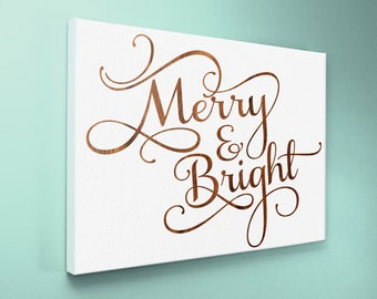 "Wood Sign 12x18 "" Merry & Bright """