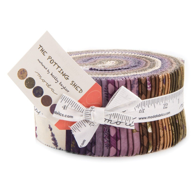 The Potting Shed Moda Jelly Roll Fabric 40 2 5 Inch Strips