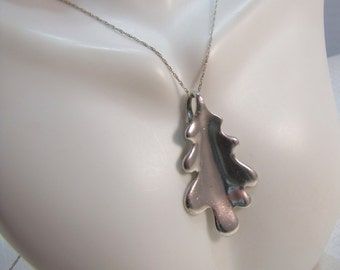 "1990's MIngs Sterling Flora Pendant and 22"" Fine Sterling Chain"