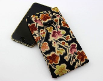 iPhone 6 Cover, iPhone 6 Plus Case, Smart Phone sleeve,Plum Blossoms Black