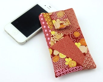 Patchwork Pattern iPhone Case, Handmade Padded Fabric iPhone Case, Xperia A4 Case, Galaxy S5, iPhone Wallet, iPhone 6, iPhone 6S Plus