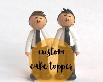 Custom wedding cake topper - RESERVED