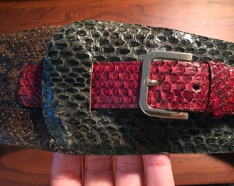 Vintage Genuine Snake skin leather belt