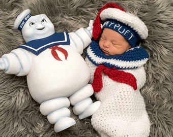 Ghostbusters Stay Puft  Inspired Beret and Cocoon