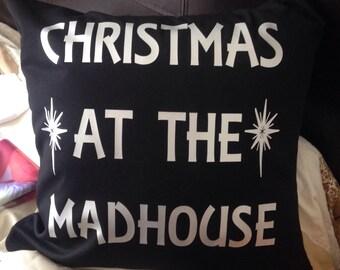 Madhouse Christmas cushion cover any colour