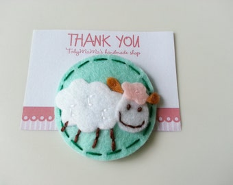 Lovely Sheep Felt Hair Clip