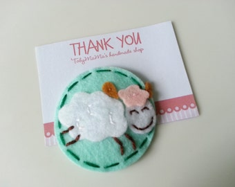 Lovely SheepFelt Hair Clip