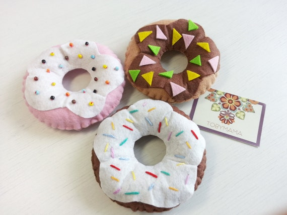 Felt Food Doughnut - Set of 3