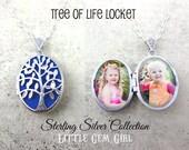 Sterling Silver Filigree Tree of Life Oval Locket w/optional Engraving on Back - Custom Photo Personalized Locket -  Engraved Locket