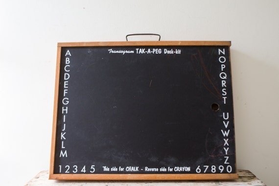 Vintage Chalkboard Whiteboard Black Chalkboard Small School