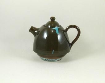 pottery tea pot ceramic tea pot mediterranean colors