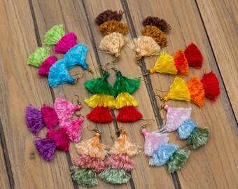 Tassels Earrings/hippie/boho