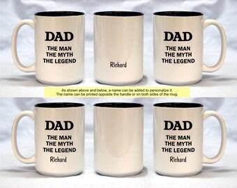 BIG 15 oz Coffee Mug for Men - The Man, The Myth, The Legend