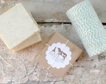Green Zeolite {Deodorizing, All-Natural, Herbal Soap, Cold Process Soap, Farmstead Soap, Handcrafted}