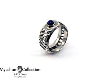 Sapphire Filigree Mycelium Ring