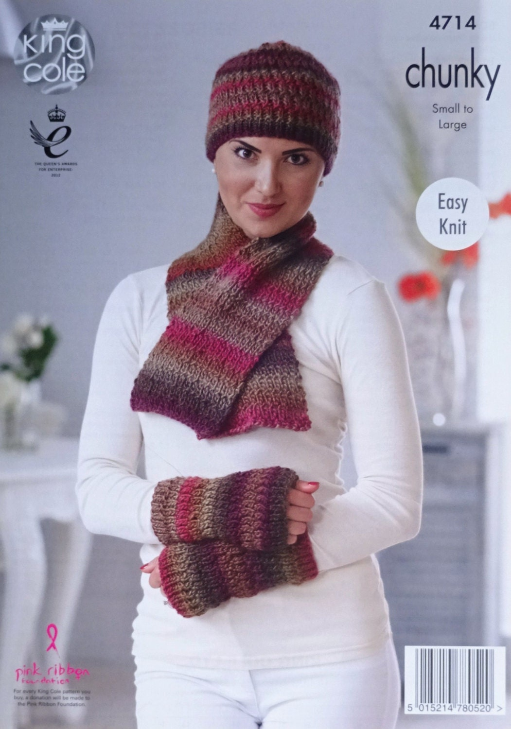 Owl Jumper Knitting Pattern : Womens Knitting Pattern K4714 Ladies Easy Knit Hat Scarf & Fingerless Mit...