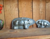Two Pigs Anton Reiche Chocolate Molds Vintage Half Molds #15 and #1