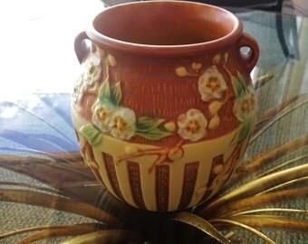 ROSEVILLE POTTERY Vase ca. 1933 Cherry Blossom Design Ware #619-5