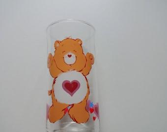 Vintage Tenderheart Care Bear Drinking Glass 1983