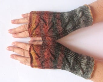 Fingerless Gloves Black Gray brown Beige wrist warmers