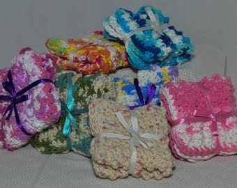 Cotton Crochet Dishcloth Washcloth