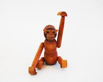 Mid Century Modern Teak Monkey Wood Zoo Line Kay Bojesen Style