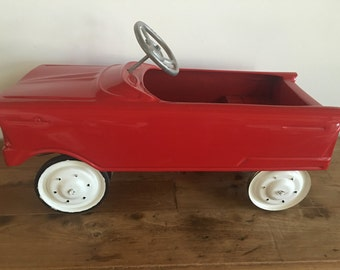 Restored 1950s Pedal Car RED Fully Operational