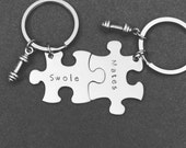 Swole mates keychains for couples