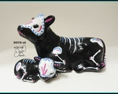 Day of the Dead Statue Cow and Calf Figurine DOTD08