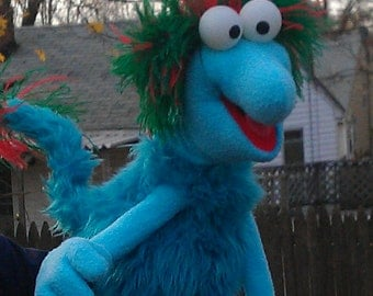 Custom Made Fraggle-Inspired Monster Puppet - Professional Use