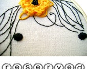Reserved for Mylissa - Hoop Art Embellished Embroidery