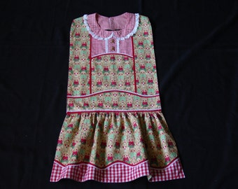 Gingerbread Men - Vintage Apron Style Adult Bib - for Special Occasions & Everyday Use