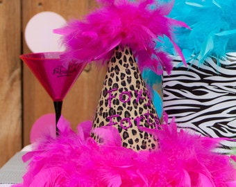 Foxy Forty Women's Birthday Hat Party Leopard 30th 40th 50th 60th 70th Forty Fifty Sixty Seventy Eighty  Sweet Sixteen 40 50 60 70 80 90