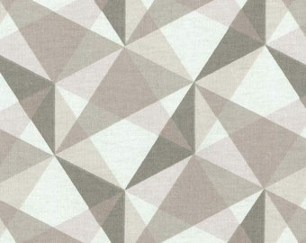 """Two 96"""" x 50""""  Custom Curtain Panels -  Nate Prism - Grey White"""
